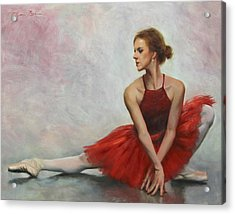 Elegant Lines Acrylic Print by Anna Rose Bain