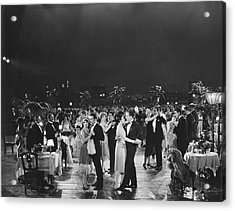 Elegant Outdoor Dance Party Acrylic Print by Underwood Archives
