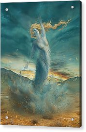 Elements - Wind Acrylic Print by Cassiopeia Art