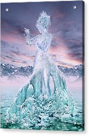 Elements - Water Acrylic Print by Cassiopeia Art