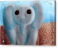 Elephant Acrylic Print by Joshua Maddison