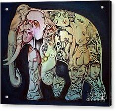 Elephant Acrylic Print by Kritsana Tasingh