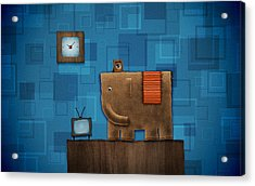 Elephant On The Wall Acrylic Print by Gianfranco Weiss