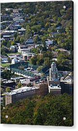 Elevated City View From Hot Springs Acrylic Print by Panoramic Images