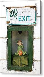 Elf Exit Acrylic Print by Steven Ralser
