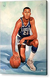Elgin Baylor - Los Angeles Lakers Acrylic Print by Michael  Pattison