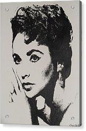 Elizabeth Taylor  Acrylic Print by Cherise Foster