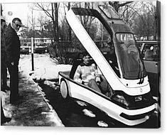 Ellert Electric Car At Ibm Acrylic Print by Ibm Research
