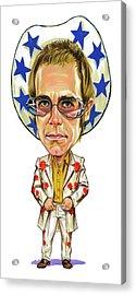 Elton John Acrylic Print by Art