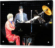 Elton Plays The Blues In Macon Ga Acrylic Print by Aaron Martens