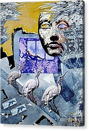 Elusive Gray Dream Acrylic Print by Hartmut Jager