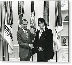 Elvis And Nixon Acrylic Print by Unknown