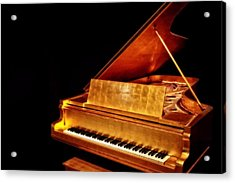 Elvis' Gold Piano Acrylic Print by Dan Sproul