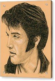 Elvis Las Vegas 69 Acrylic Print by Rob De Vries