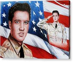 Elvis Patriot  Acrylic Print by Andrew Read