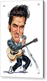 Elvis Presley Acrylic Print by Art