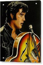 Elvis Presley Acrylic Print by Betta Artusi