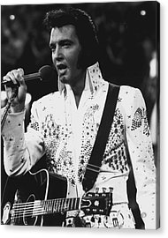 Elvis Presley Singing Acrylic Print by Retro Images Archive