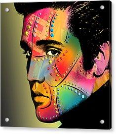 Elvis Presley Acrylic Print by Mark Ashkenazi