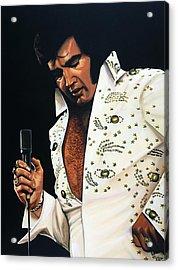 Elvis Presley Painting Acrylic Print by Paul Meijering