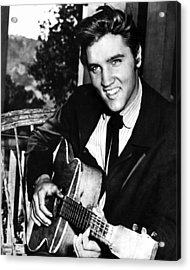 Elvis Presley Smiles  Acrylic Print by Retro Images Archive