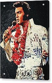 Elvis Presley Acrylic Print by Taylan Apukovska