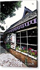 Em Le's Cafe Acrylic Print by Linda  Parker