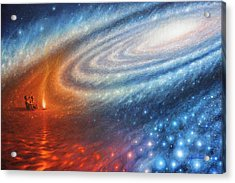 Embers Of Exploration And Enlightenment Acrylic Print by Lucy West