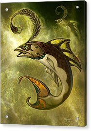 Emerald Fish Acrylic Print by Jeff Haynie