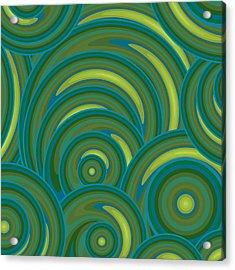 Emerald Green Abstract Acrylic Print by Frank Tschakert