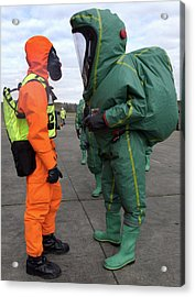 Emergency Response Protection Suits Acrylic Print by Public Health England