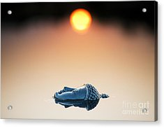 Emerging Buddha Acrylic Print by Tim Gainey