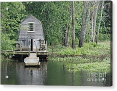 Emerson Boathouse Concord Massachusetts Acrylic Print by Amy Porter