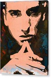 Eminem - Stylised Pop Art Poster Acrylic Print by Kim Wang