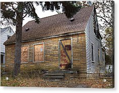 Eminem's Childhood Home Taken On November 11 2013 Acrylic Print by Nicholas  Grunas