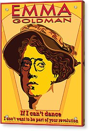 Emma Goldman Acrylic Print by Larry Butterworth
