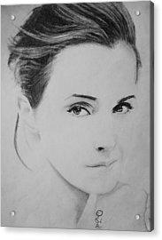Emma Watson Minimalist Acrylic Print by Jaedin Always