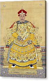 Emperor Qianlong In Old Age Acrylic Print by Chinese School