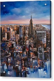 Empire Rising Tall Acrylic Print by Manit