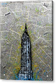 Empire State Bound Acrylic Print by Anthony Jensen