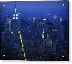 Empire State Building 1980s - New York City Acrylic Print by Mountain Dreams