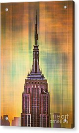 Empire State Building 3 Acrylic Print by Az Jackson