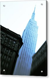 Empire State Building Acrylic Print by Dave Bowman