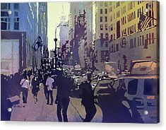 Empire State Acrylic Print by Kris Parins