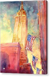 Empire State Acrylic Print by Virgil Carter