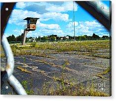 Employee Parking Lot Acrylic Print by MJ Olsen