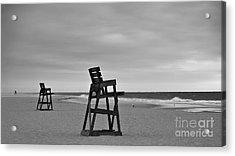 Empty Beach Acrylic Print by Mark Miller