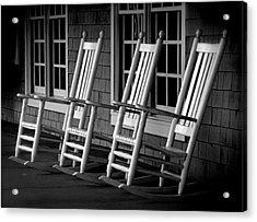 .empty Chairs. Acrylic Print by Lynn E Harvey