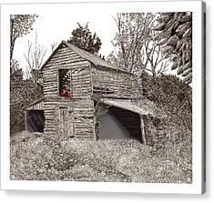 Empty Old Barn Acrylic Print by Jack Pumphrey