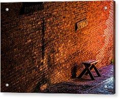 Empty Seat On A Hill Acrylic Print by Bob Orsillo